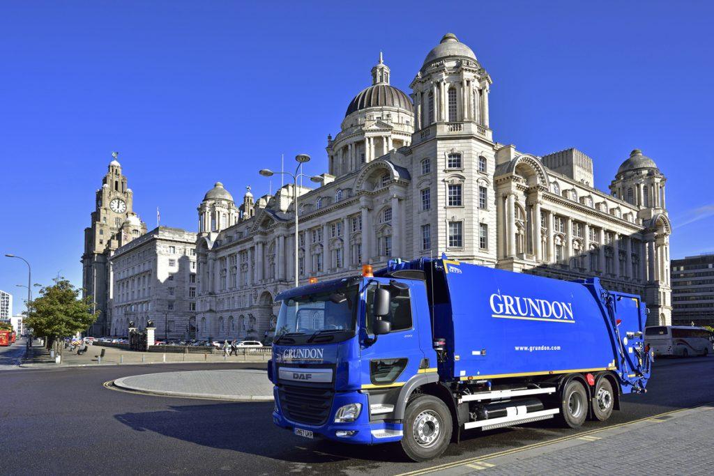 Grundon Hydrogen Fuel Bin Wagon