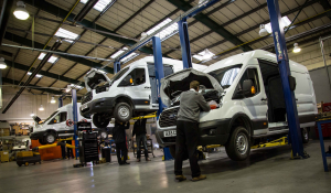 Vans in Workshop